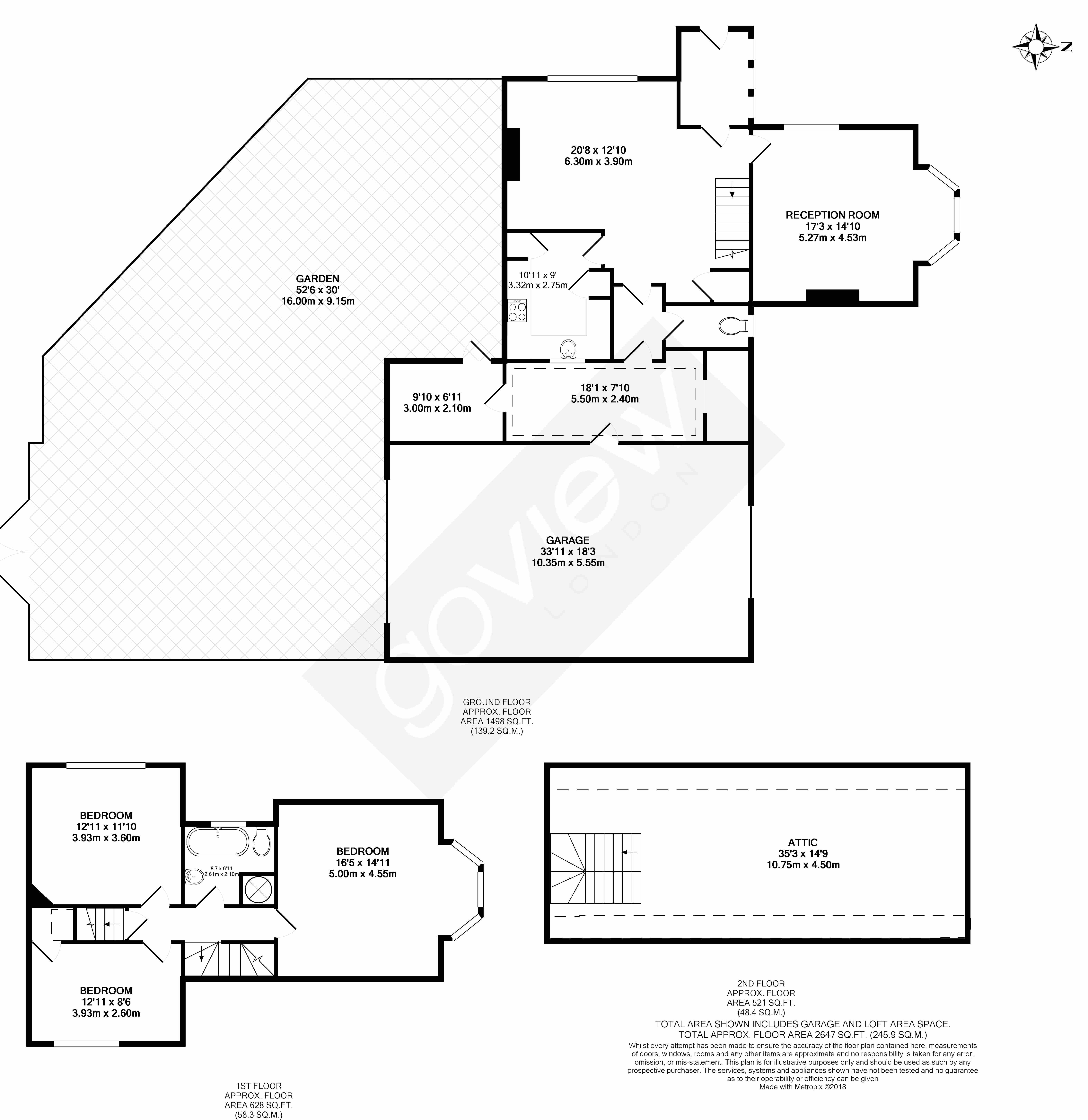 Floorplans For Detached Lodge, Just within the grounds of Westminister Cemetary,  Ealing