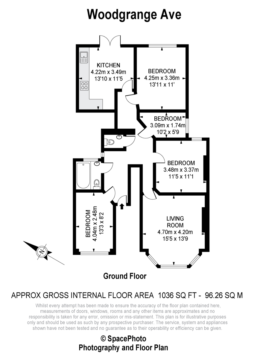 Floorplans For Woodgrange Avenue, W5
